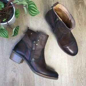 PIKOLINOS Shoes - Pikolinos 'Olmo' Brown Leather Ankle Boots sz 38